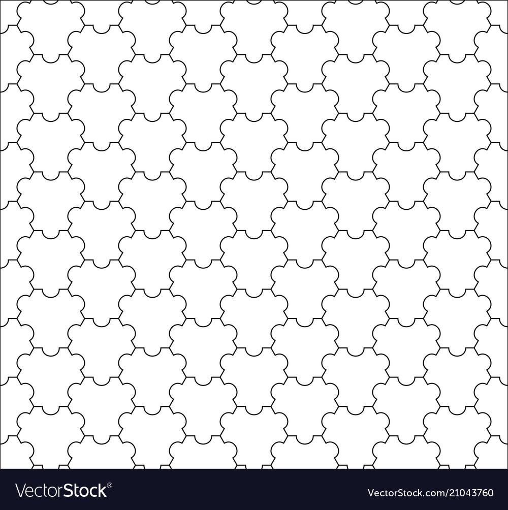 Modern seamless geometry tessellation vector image