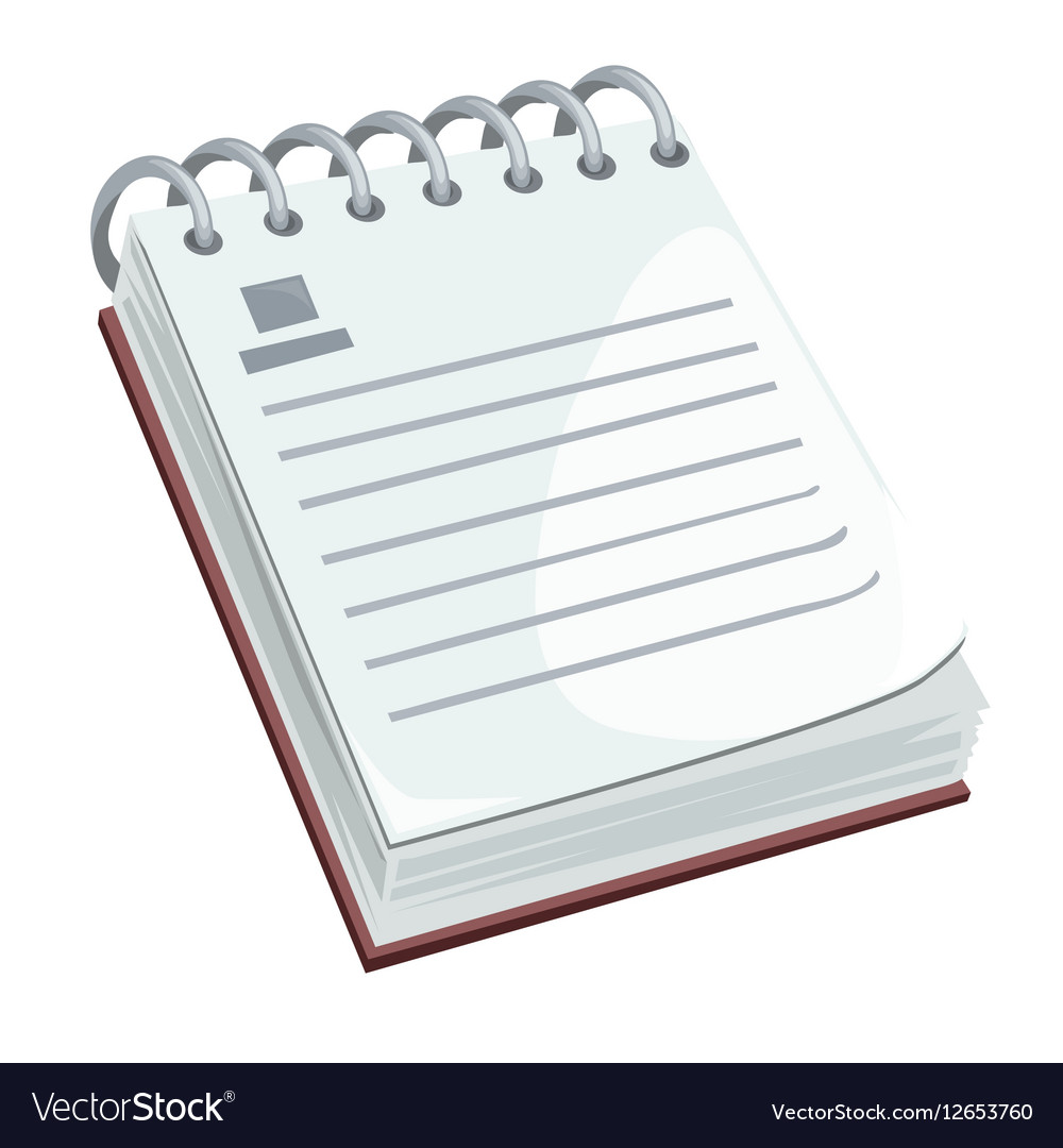 Notepad with blank space isolated