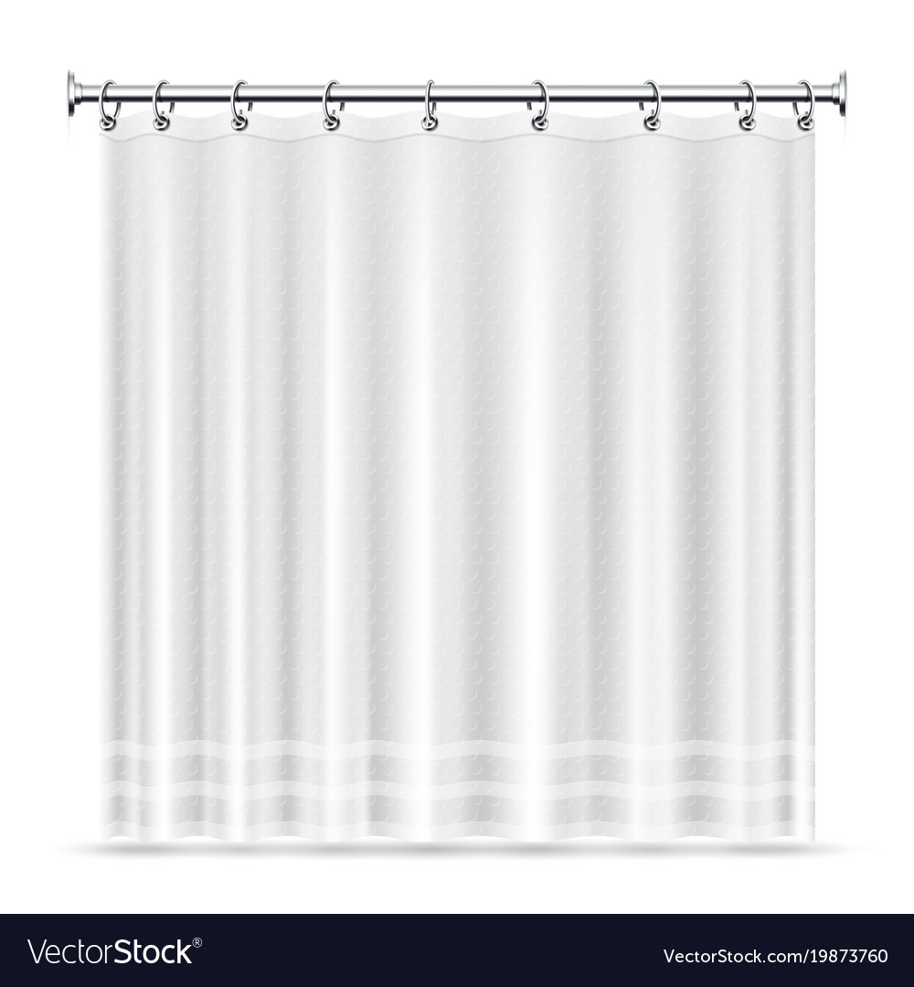 Realistic shower curtains template for Royalty Free Vector