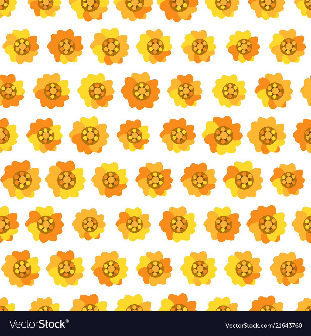 Seamless background with daisy yellow flowers
