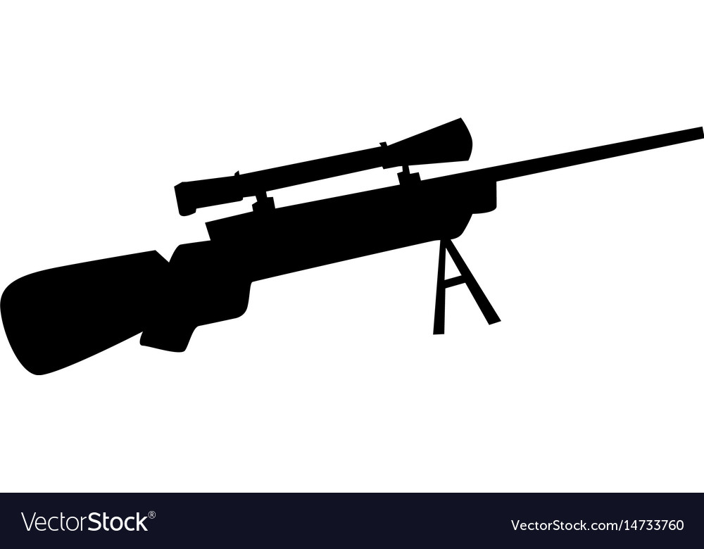 Sniper rifle vector image
