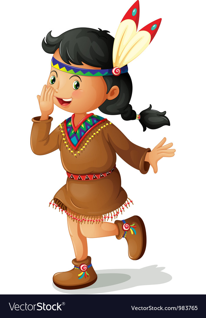 American Indian Girl vector image