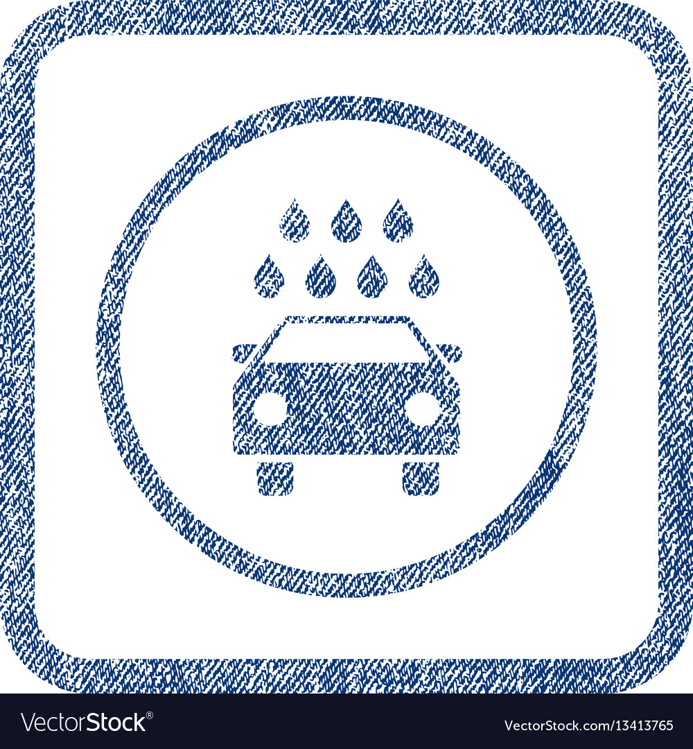 Car shower fabric textured icon vector image