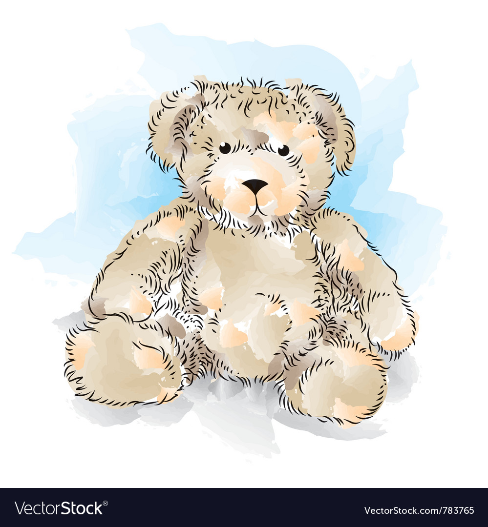 Drawing teddy bear color royalty free vector image drawing teddy bear color vector image altavistaventures Image collections