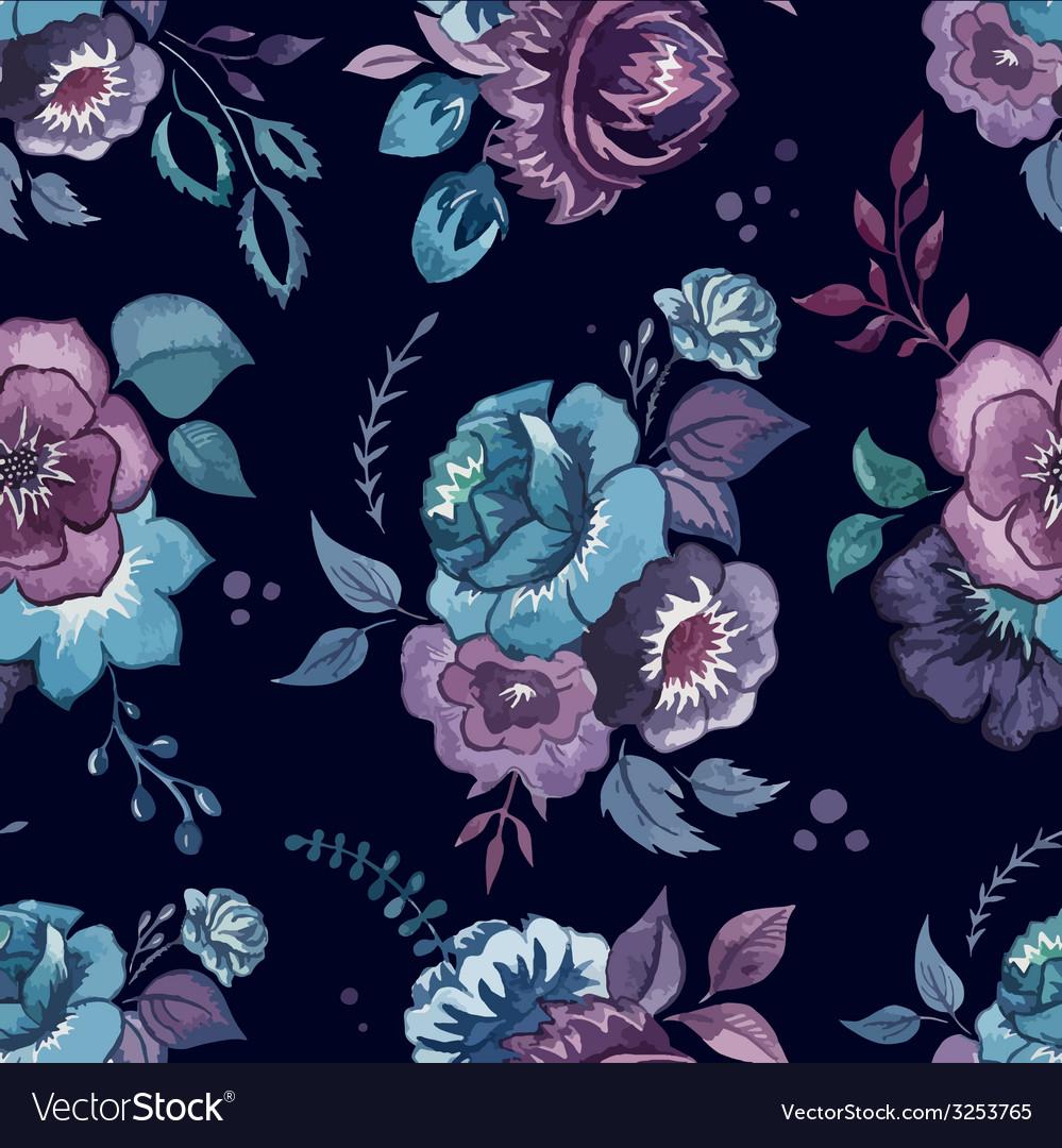 Flowers watercolor pattern wallpaper textile
