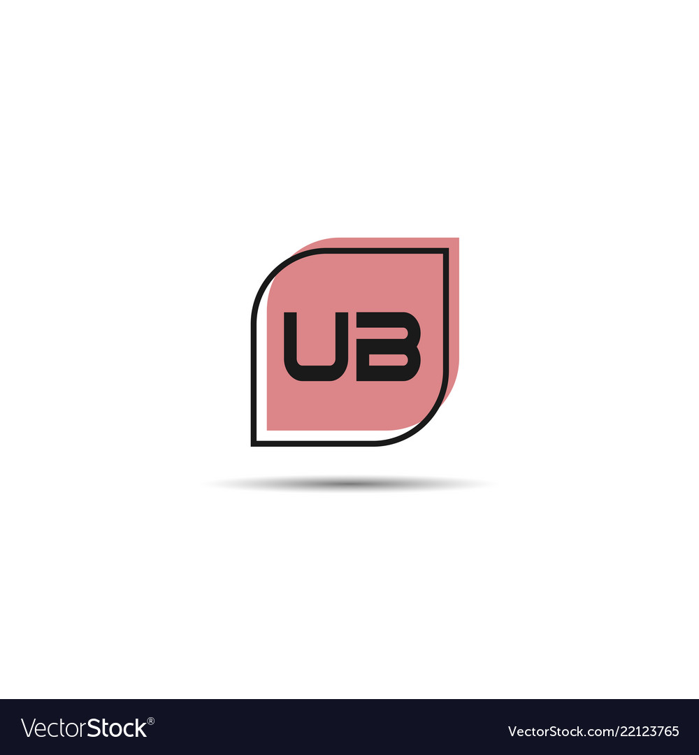 Ub logo vector modern initial swoosh circle blue and red buy.