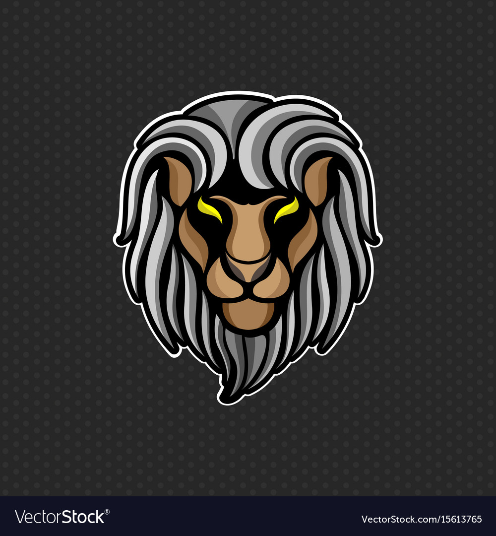 lion logo design template lion head icon vector image