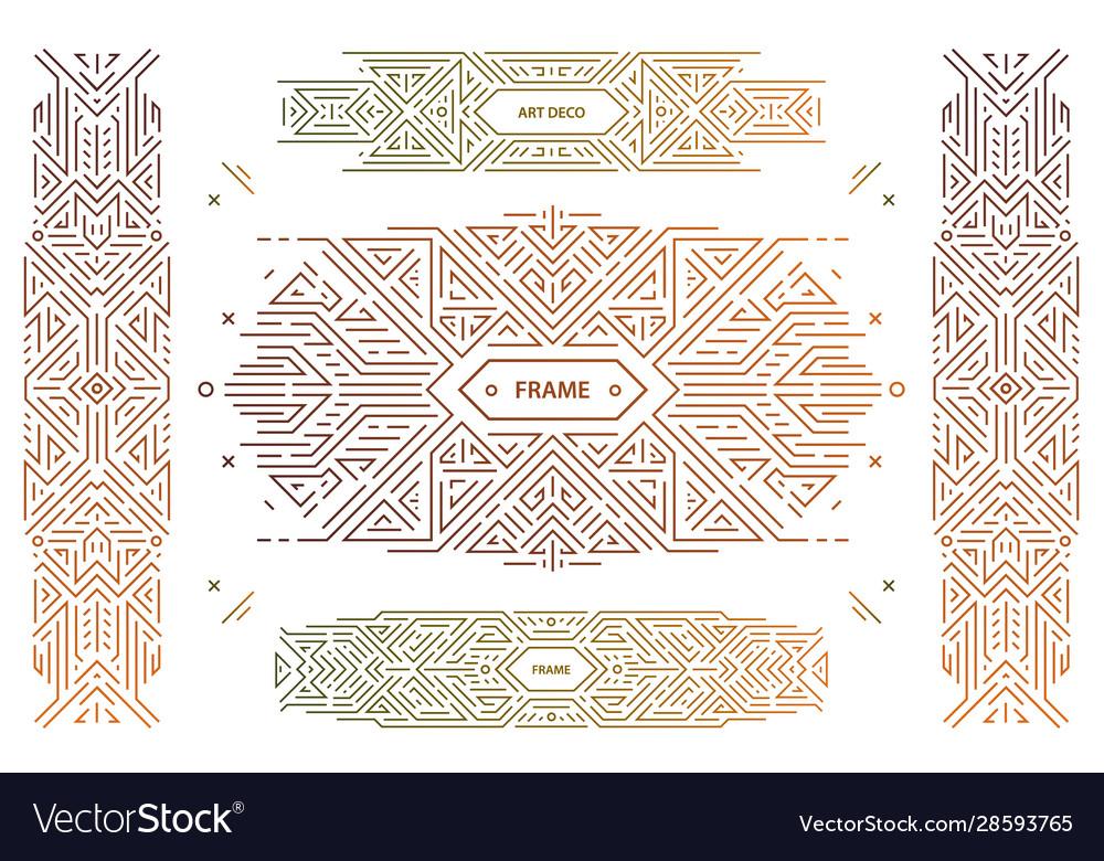 Set abstract geometric design elements