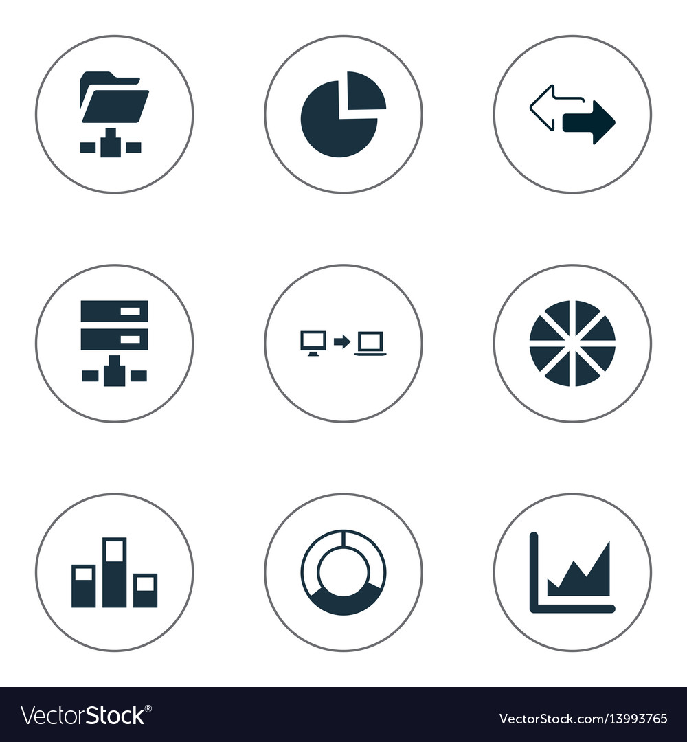 Set of simple data icons