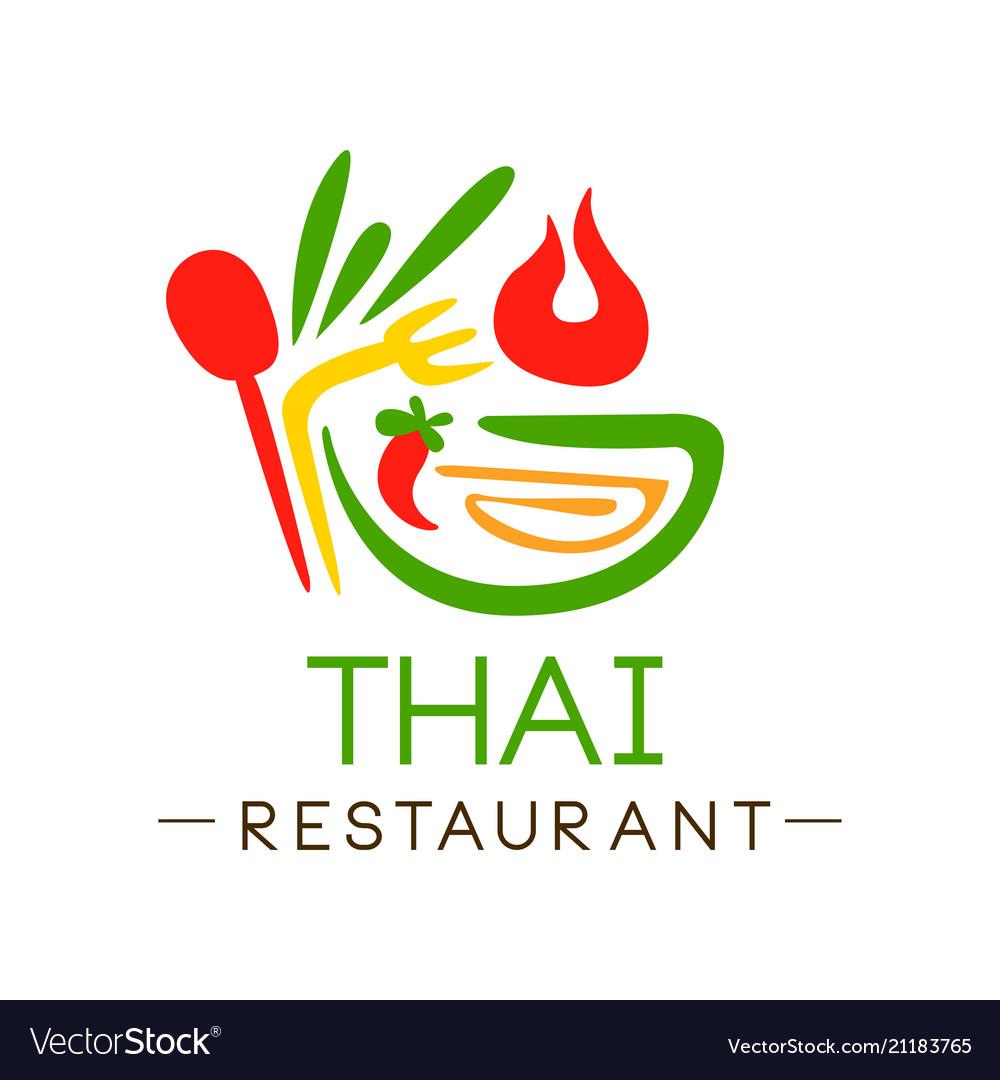 Thai restaurant logo design authentic traditional