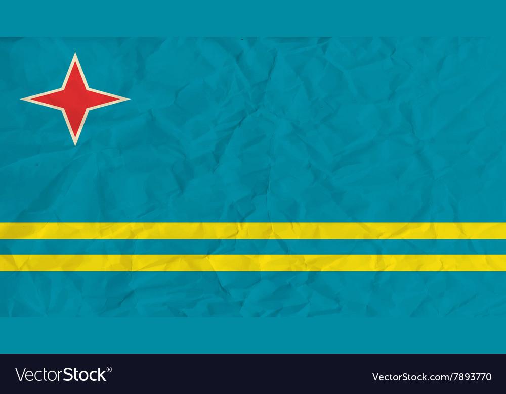 Aruba paper flag
