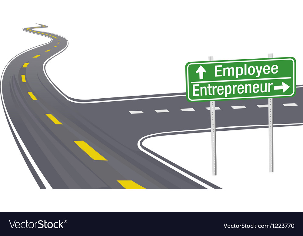 Entrepreneur Employee business decision sign