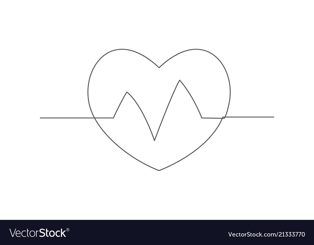 Health one line drawing