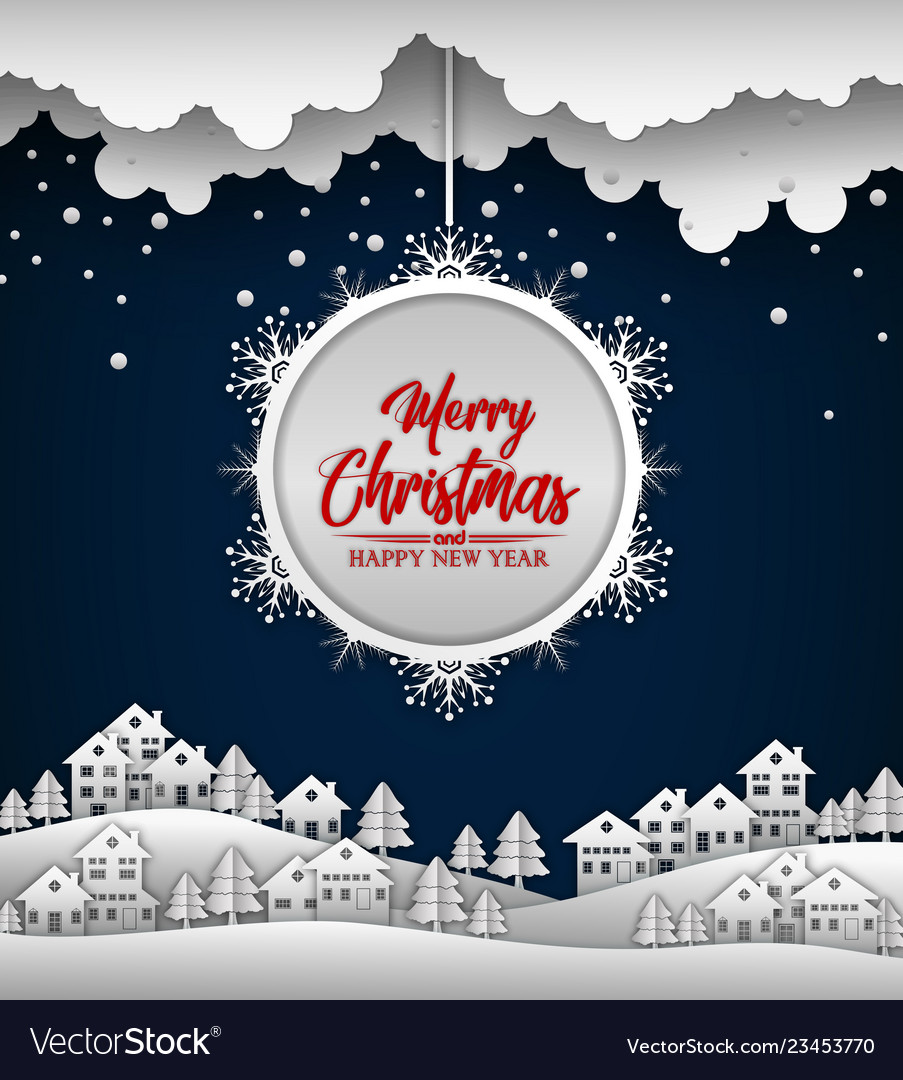 Merry christmas and happy new year 2019 on blue ba