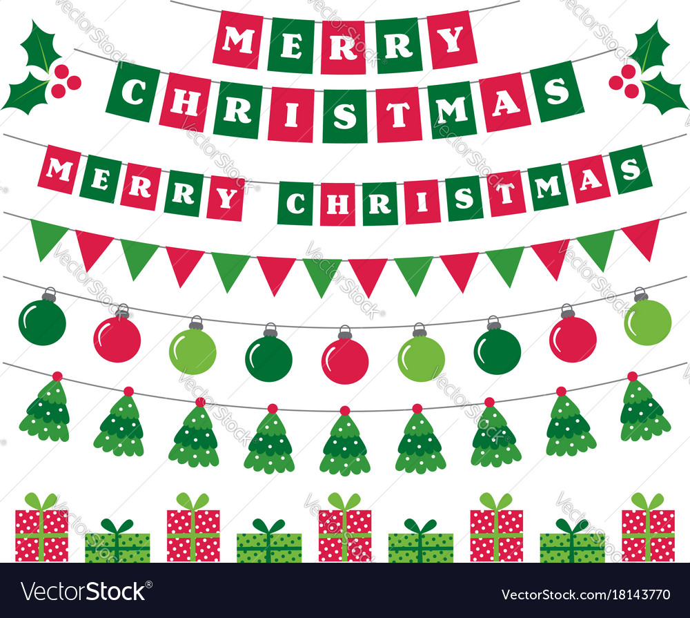 Christmas Banners.Merry Christmas Banners And Holiday Decoration