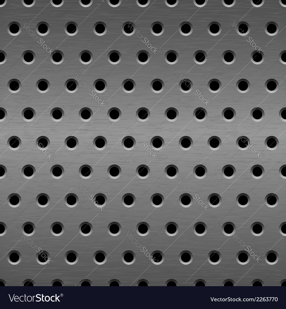 Metal seamless background vector image