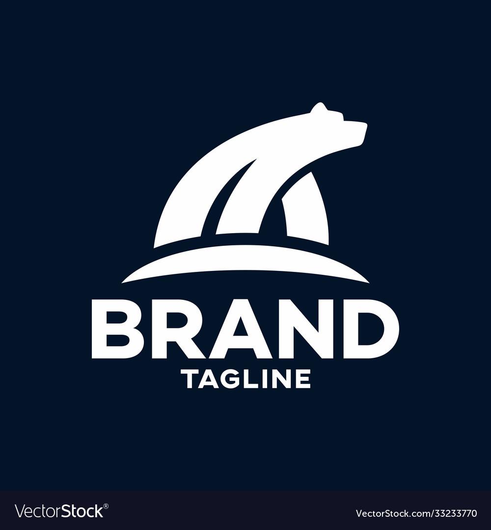 Modern polar bear logo