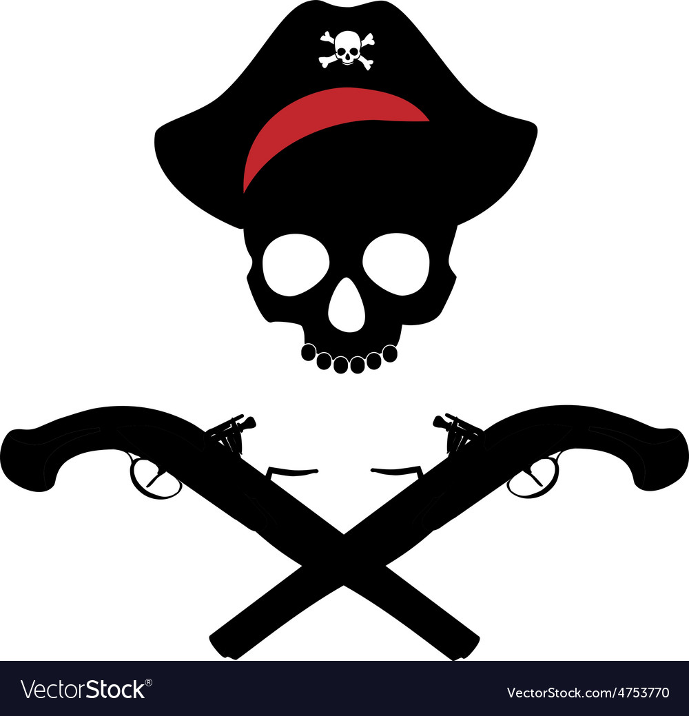 Skull and musket gun