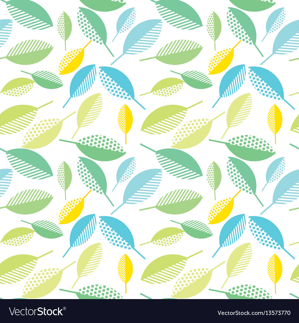 Spring colorfull leaves abstract seamless pattern