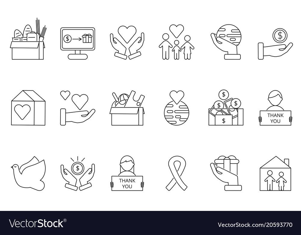 Symbols of volunteers and charities organisations