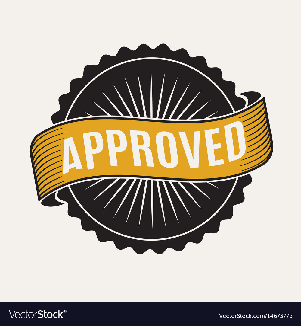 Approved stamp sign vector image