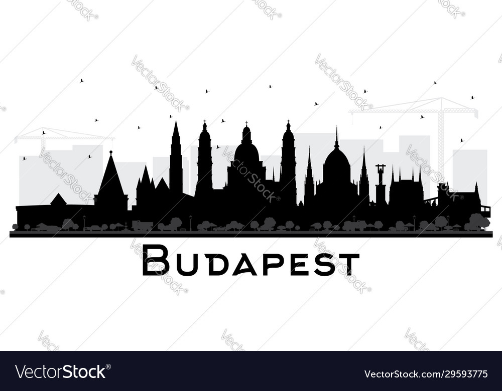 Budapest hungary city skyline silhouette