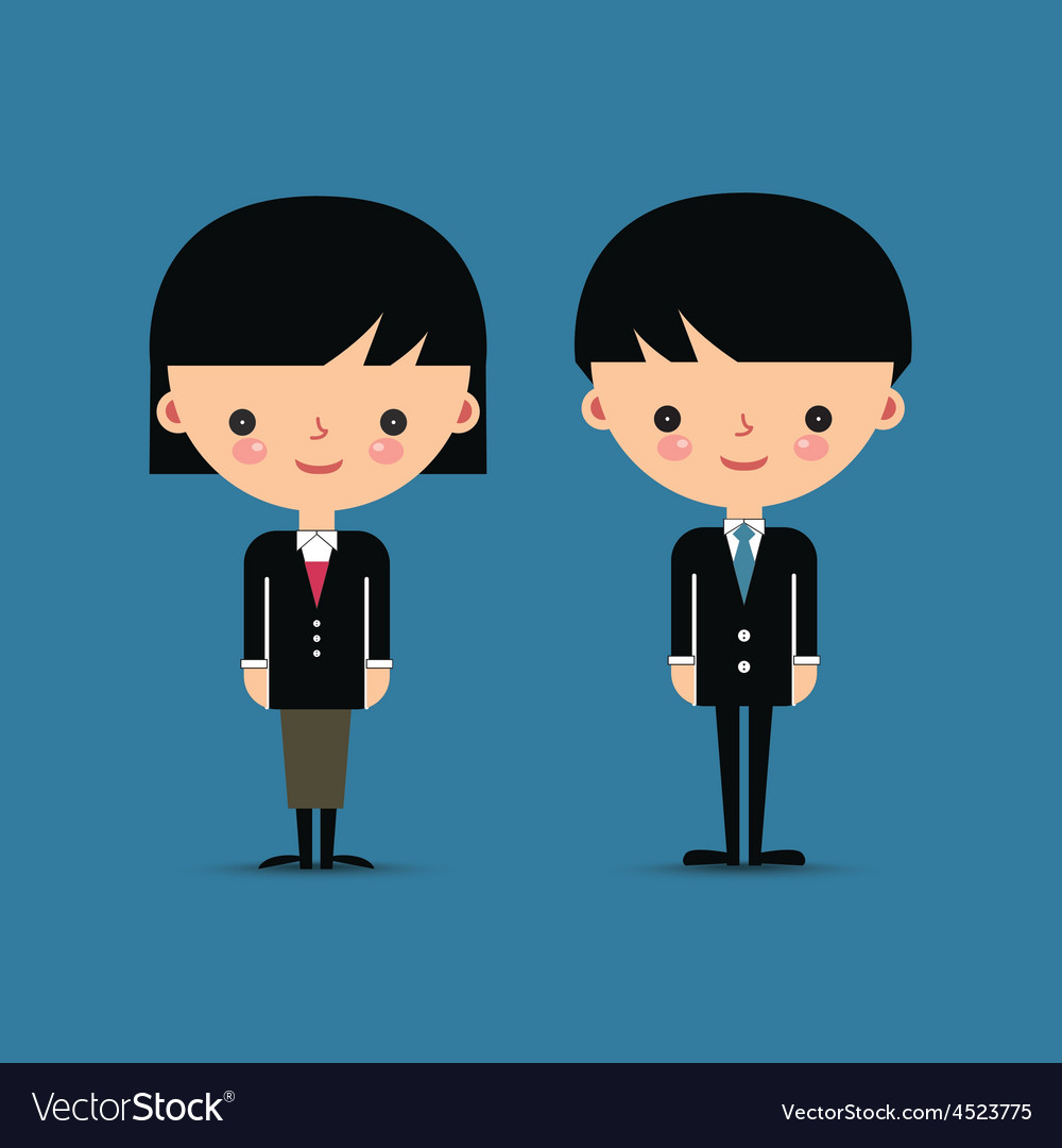 Business man and woman characters