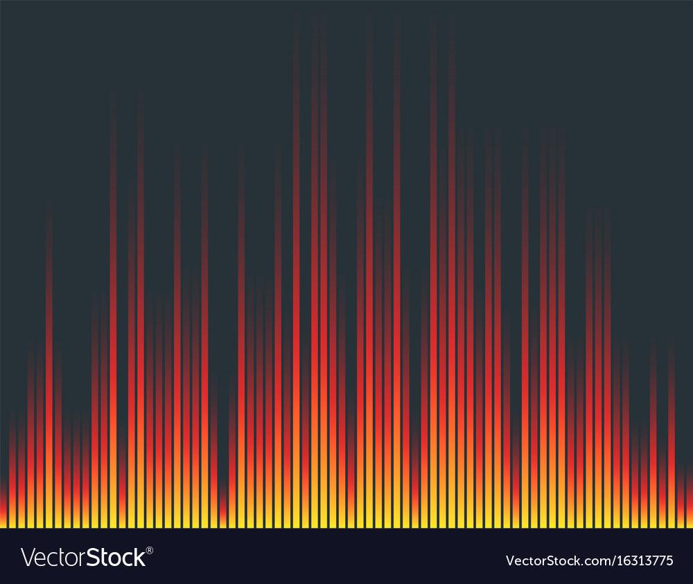 Digital music equalizer audio waves design