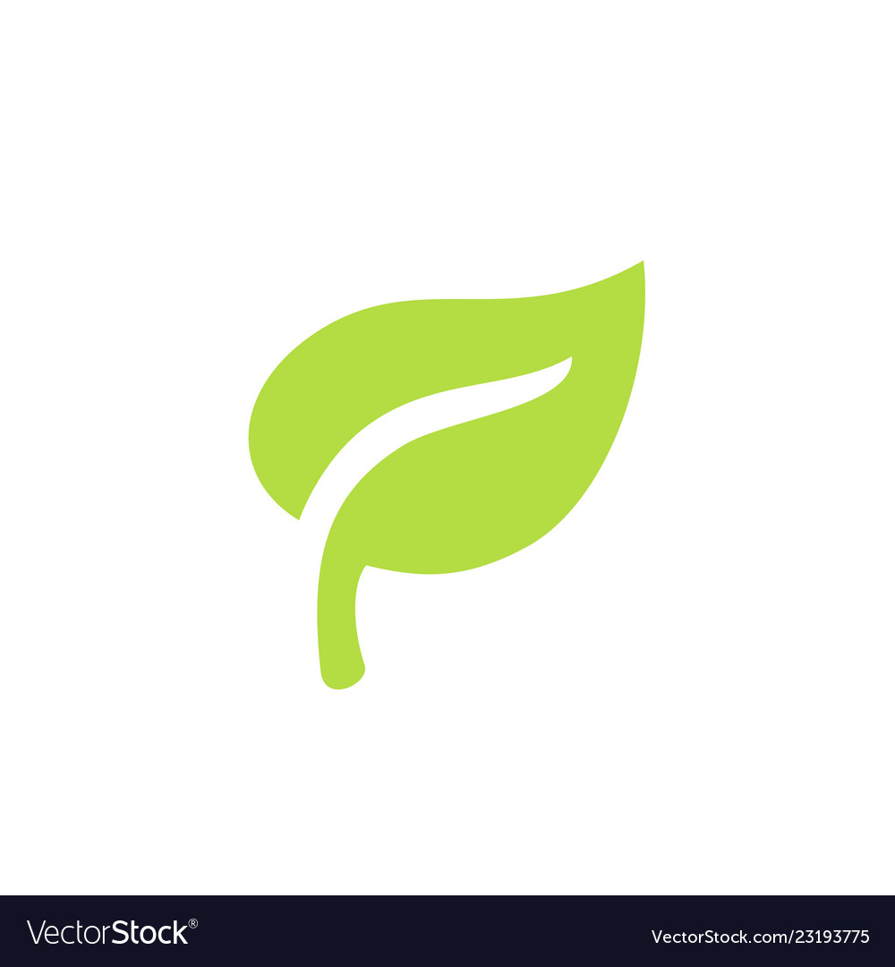 Green leaf plants icon or logo ecology purity and