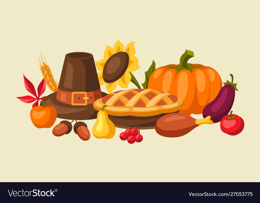 Happy thanksgiving day background with holiday