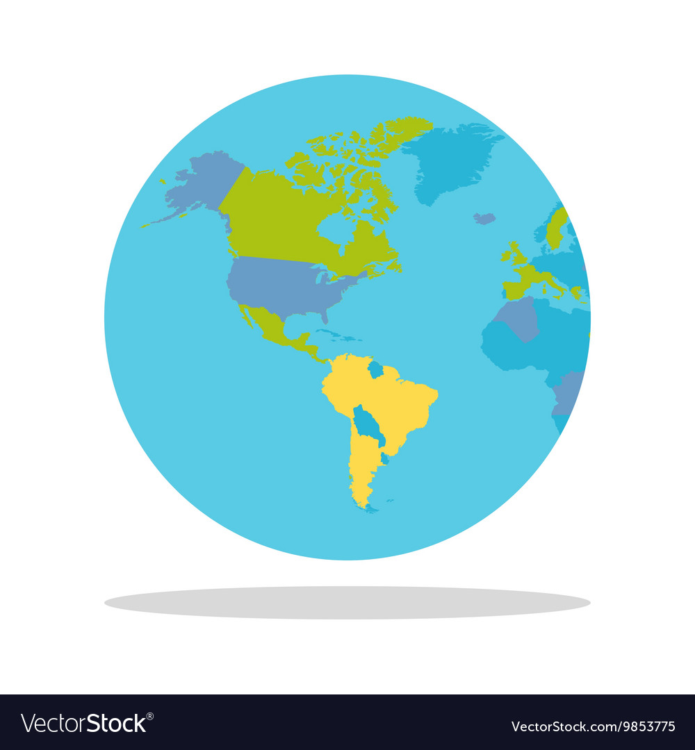 Planet Earth with Countries