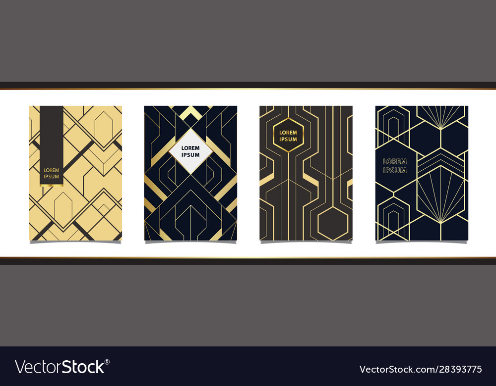 Templates in art deco style for luxury products