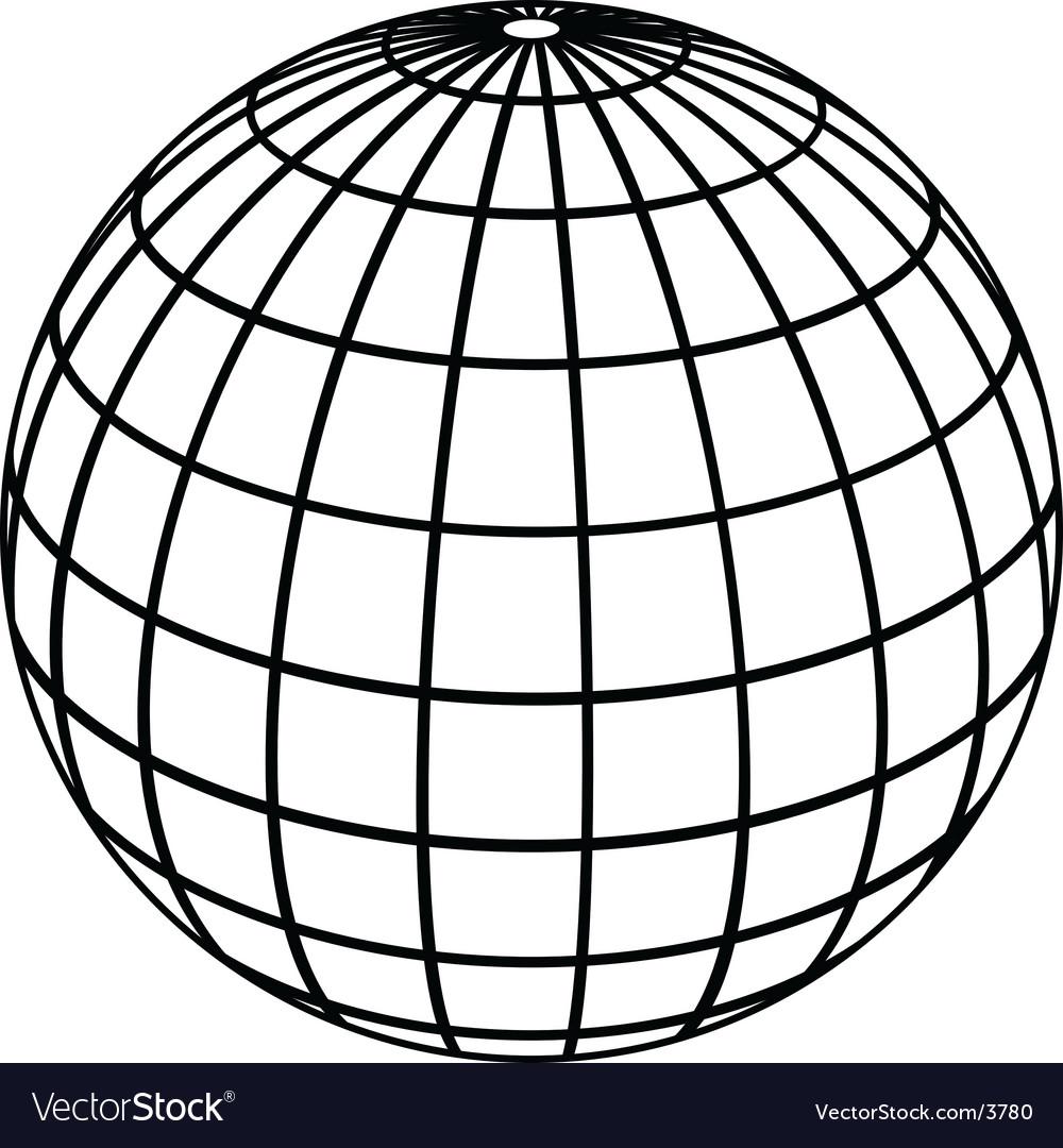 Good Globe Meridians Vector Image