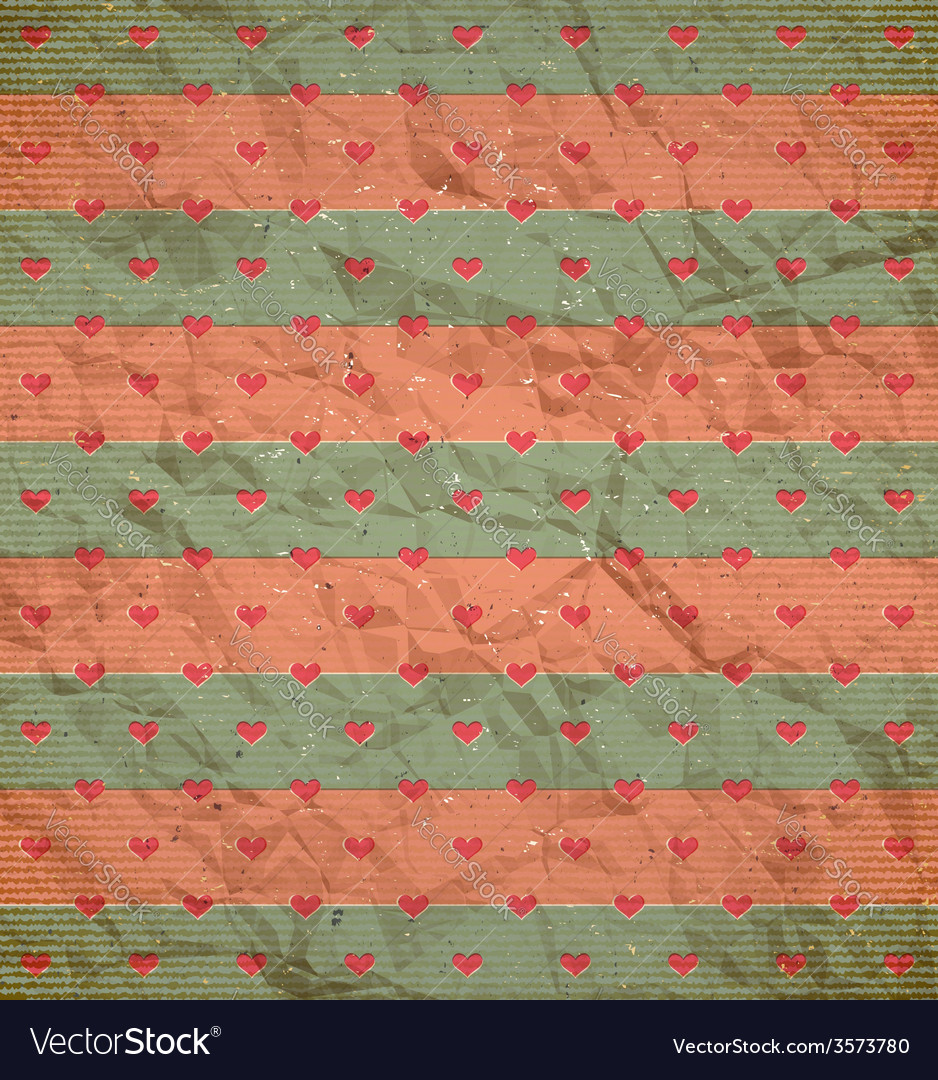 Hearts pattern on the cardboard