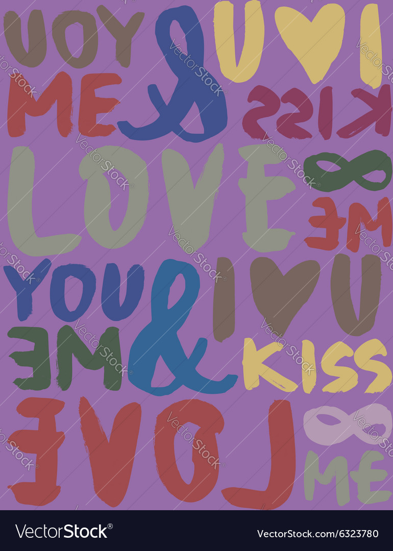 I love seamless pattern brush and ink calligraphy