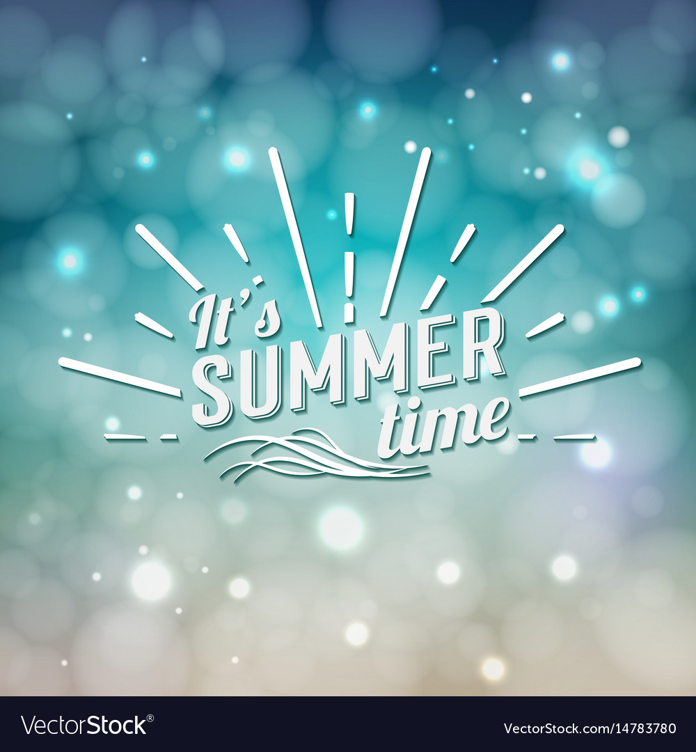 Its summer time typographic design
