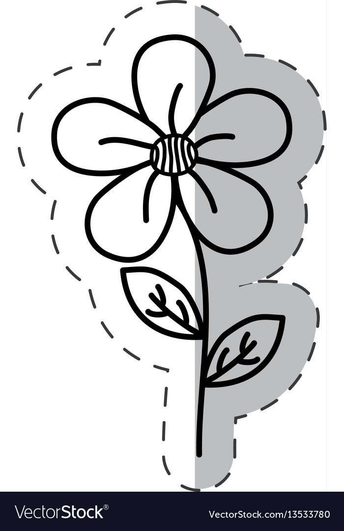 Jasmine flower decoration cut line
