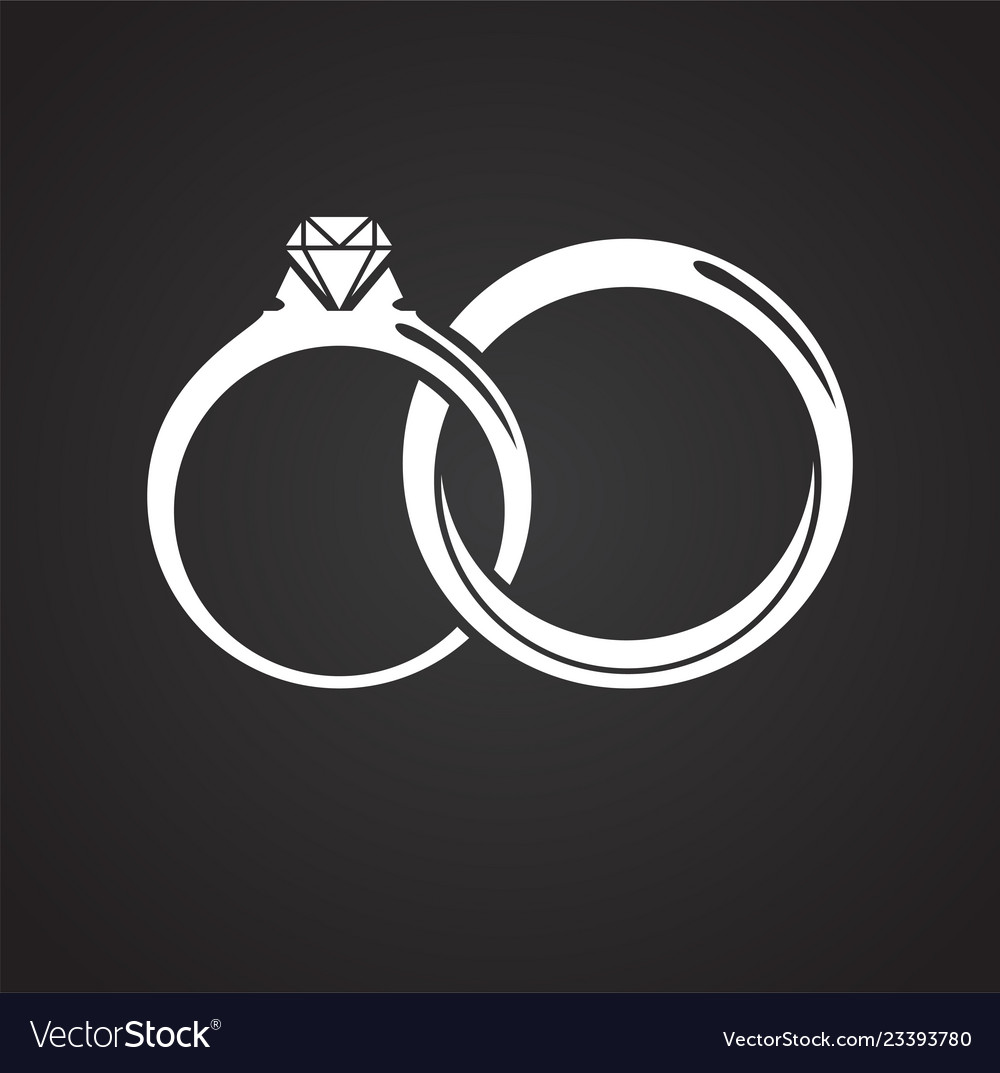 ring icon on black background for graphic and web vector image vectorstock