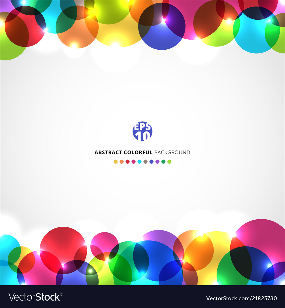 template abstract header colorful circles with vector image