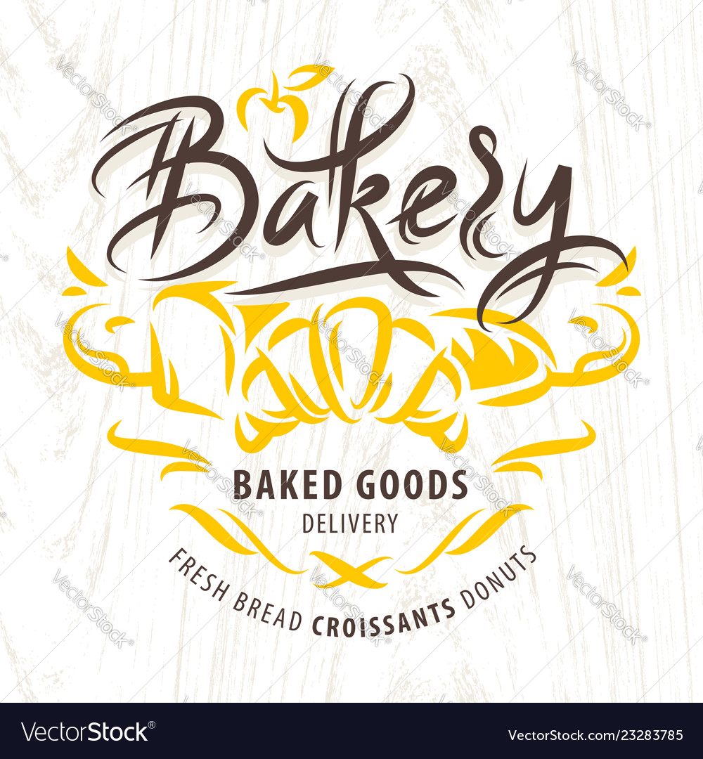 Bakery calligraphic label
