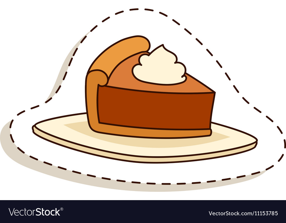 Cake isolated vector image