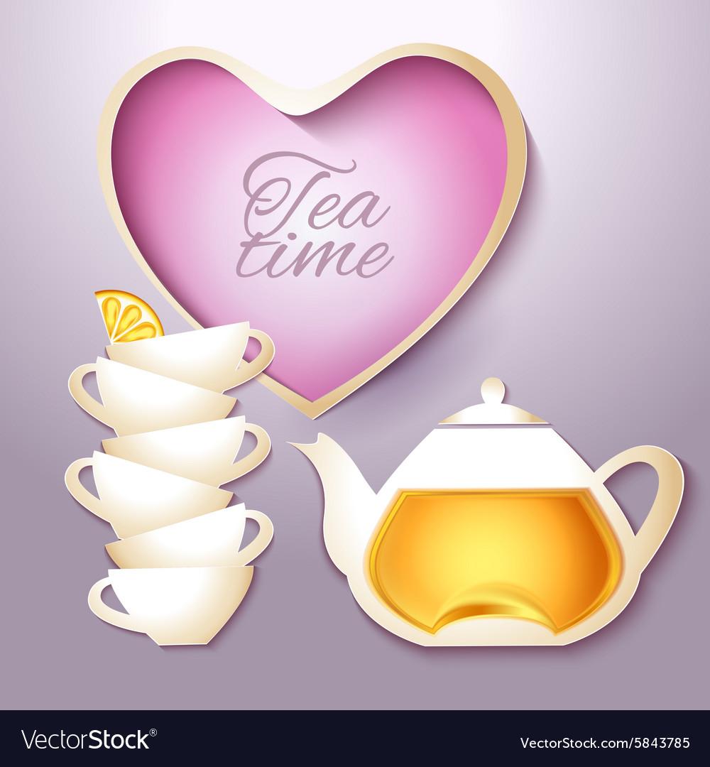 Cof tea and teapot