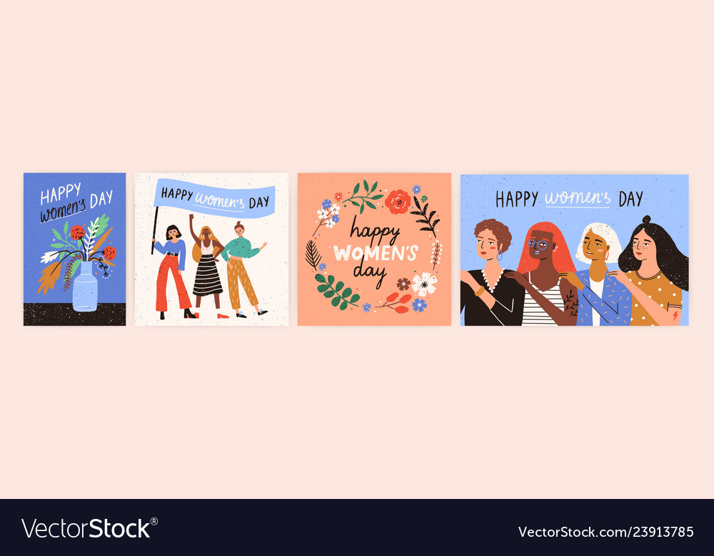 Collection of greeting card or postcard templates