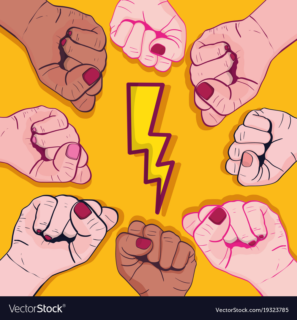 Power hand protest strong background