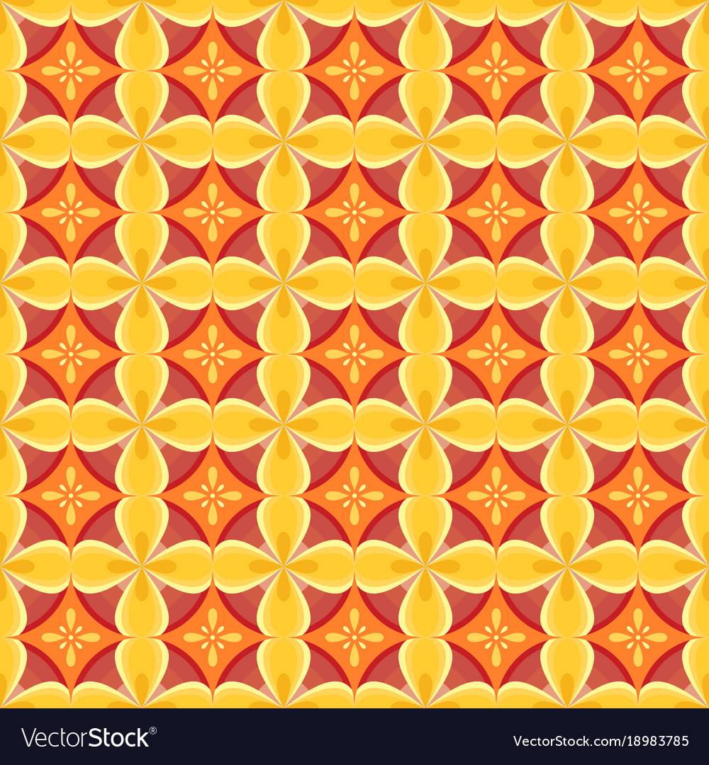 Seamless pattern with a geometrical ornament