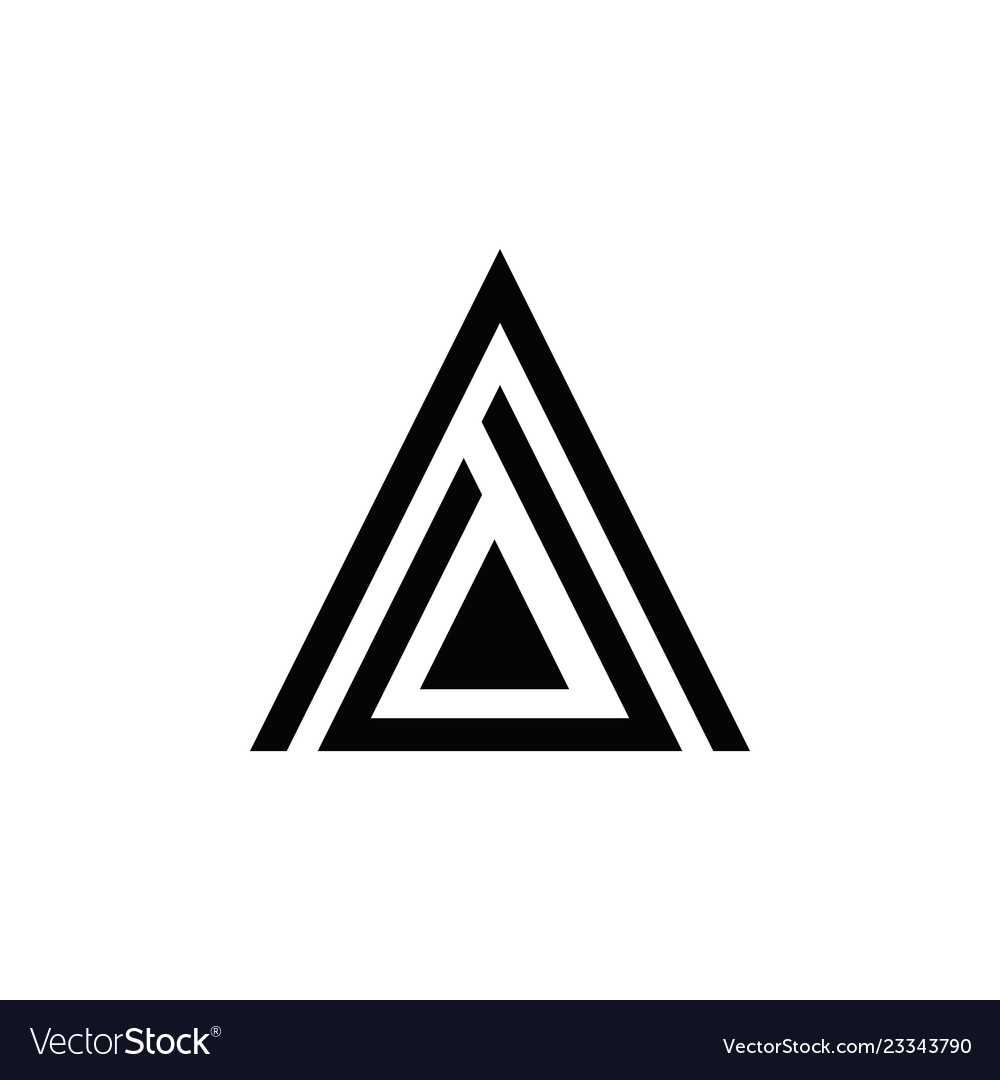 A letter triangle logo