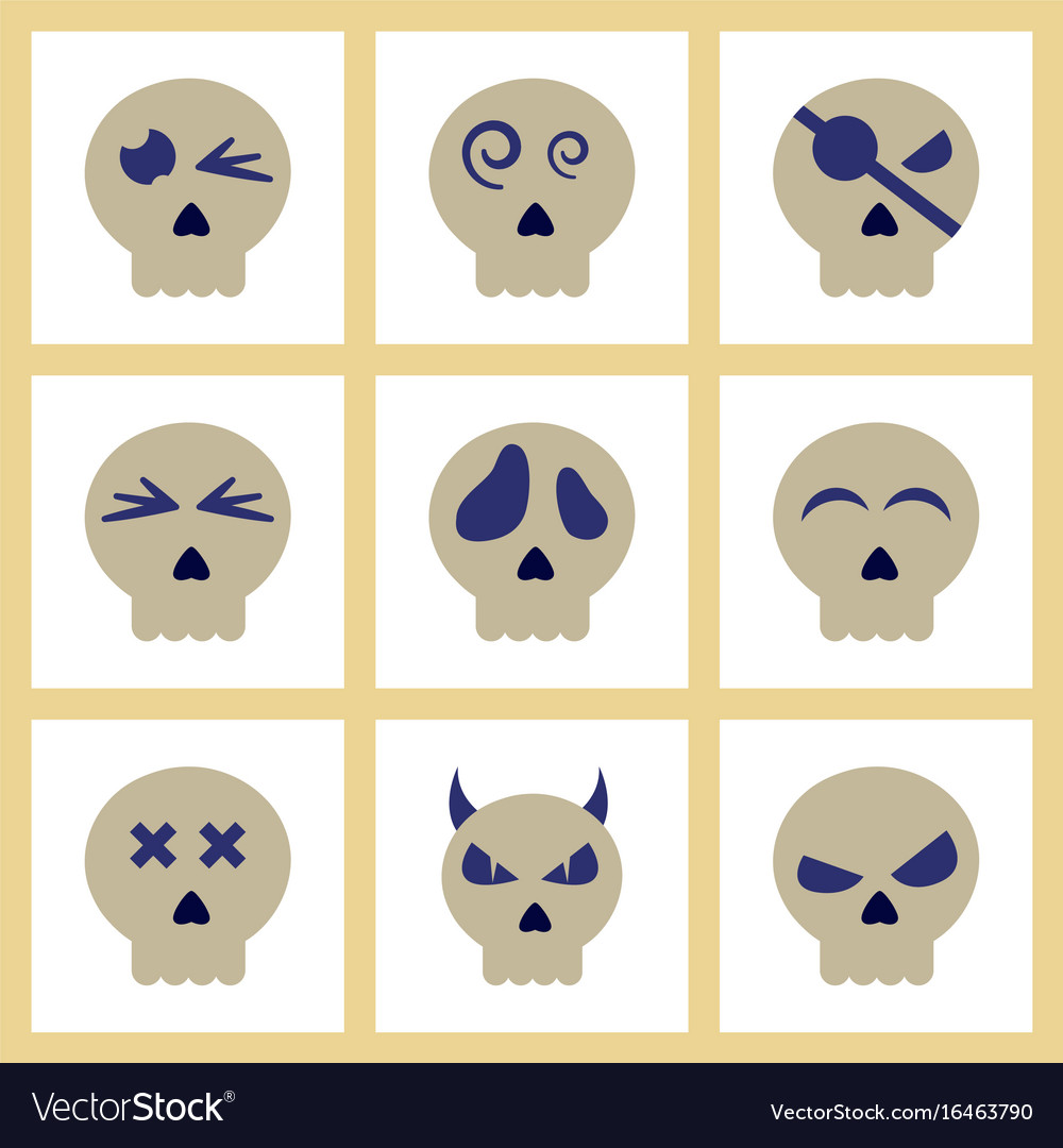 greeting card with color cartoon skull
