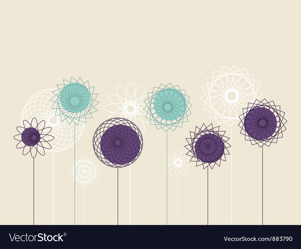 Background with abstract flowers