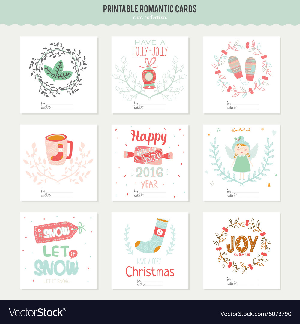 Cute Christmas Cards.Cute Christmas Cards And Stickers