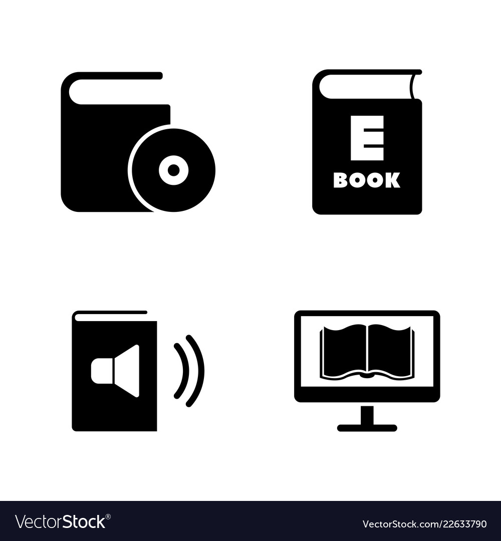 Ebook education simple related icons